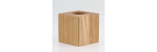 Lampenhalterungen aus Holz