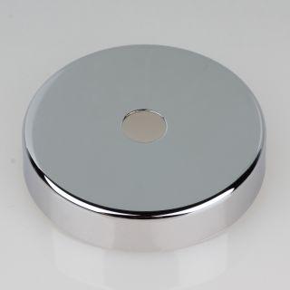 Lampen Abschluß Kaschierung verchromt 57x11mm mit Mittelloch 10,2mm