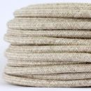 Textilkabel Stoffkabel kiesel 3-adrig 3x0,75...