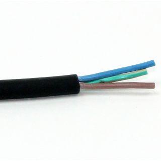 Gummi-Schlauchleitung schwarz 3Gx1,5 mm² H07RN-F