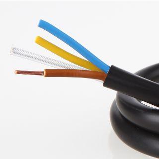 pvc lampenkabel schwarz 3 adrig 3gx0 75mm mit stahlseil. Black Bedroom Furniture Sets. Home Design Ideas