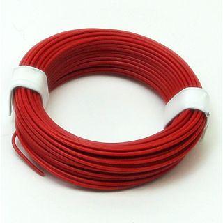 10 Meter Schaltlitzen Kabel rot 1-adrig 1x0,14mm²