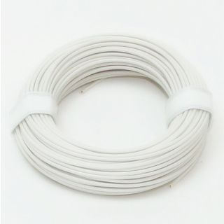 10 Meter Schaltlitzen Kabel weiß 1-adrig 1x0,14mm²