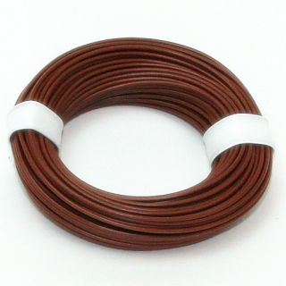 10 Meter Schaltlitzen Kabel braun 1-adrig 1x0,14mm²
