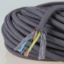 Textilkabel Stoffkabel graphit-grau 3-adrig 3x0,75...