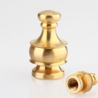 Lampen Abschlussknopf Zierknopf M10x1 mm Innengewinde 20x34 mm Messing roh