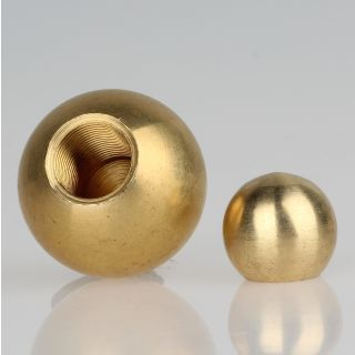 Metall-Kugel Messing roh 10 mm Durchmesser mit M4 Sackgewinde