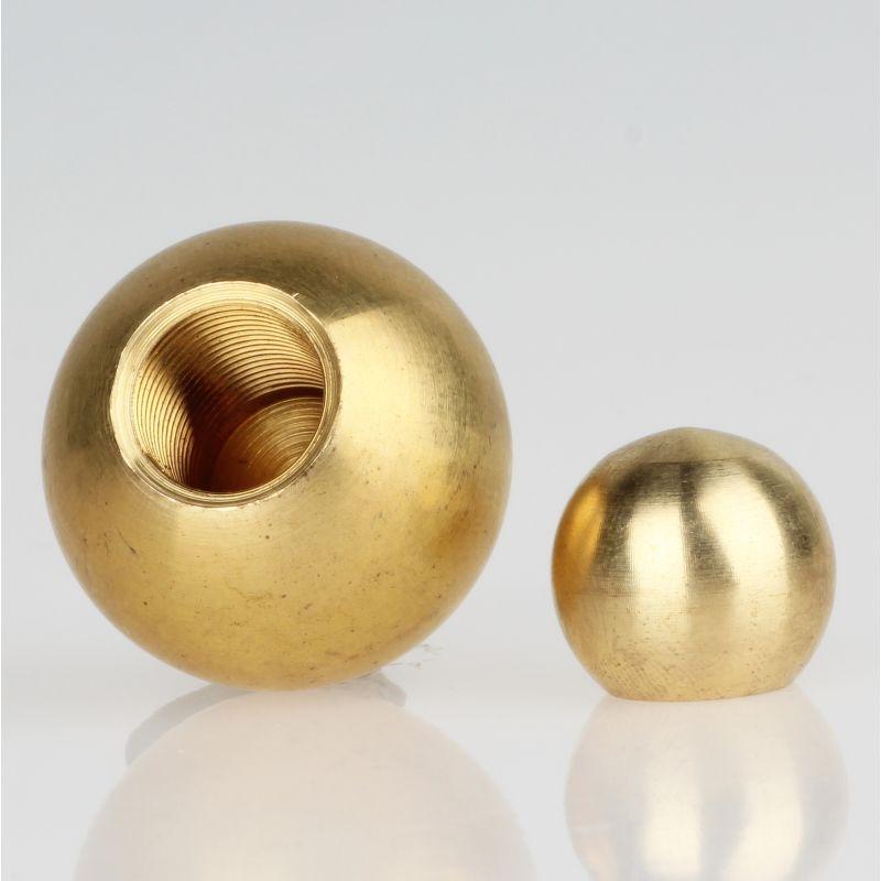 Metall-Kugel Messing vernickelt 10 mm Durchmesser mit M3 Sackgewinde