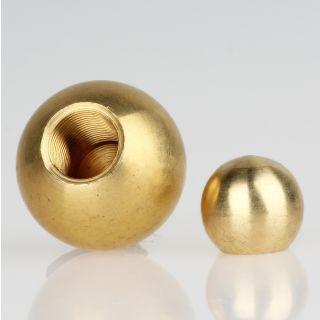 Metall-Kugel Messing roh 20 mm Durchmesser mit M10x1 Sackgewinde