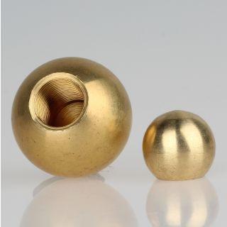 Metall-Kugel Messing roh 30 mm Durchmesser mit M13x1 Sackgewinde