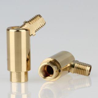 Lampen Dreh-Kippgelenk messing poliert M8x1 AG auf M8x1 IG 13x41mm