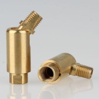 Lampen Dreh-Kippgelenk messing roh M8x1 AG auf M8x1 IG 13x41mm