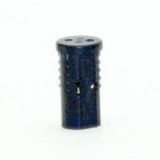 12V Niedervolt G4 Mini Halogen Fassung schwarz mit Doppelsteckkontakt