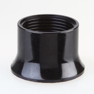 E27 Bakelit Schraubring schwarz 57x37 mm