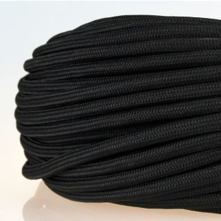 Textilkabel Stoffkabel schwarz 3-adrig 3x0,75 Zug-Pendelleitung S03RT-F 3G0,75