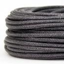 Textilkabel Stoffkabel grau metallic 3-adrig 3x0,75...