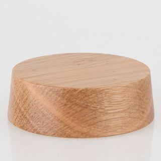 Lampen Baldachin Holz Eiche hell 85x28 mm mit Zubehör-Set