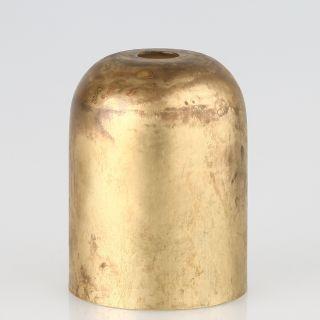 E27 Metall Fassungshülse Zierhülse 43x57 Messing roh unbehandelt