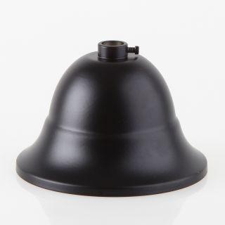 Lampen Baldachin Metall 90x61mm flaemisch schwarz mit Stellring fuer 10mm Pendelrohr
