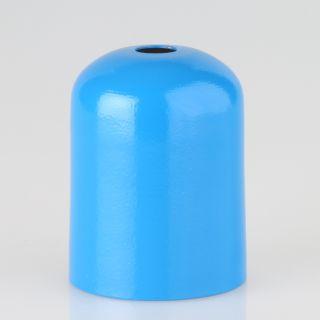 E27 Metall Fassungshülse Zierhülse 43x57 hellblau