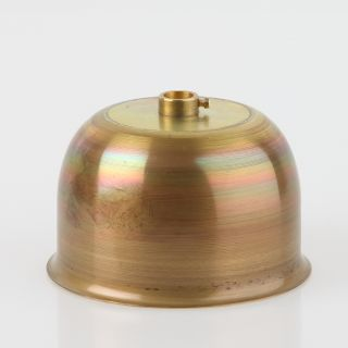 Lampen Baldachin Metall 90x55mm messing roh