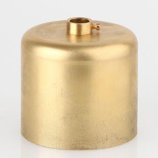 Lampen Baldachin 62x63mm Metall Messing roh Zylinderform mit Stellring fuer 10mm Pendelrohr