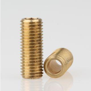 Lampen Gewinderohr Länge 20 mm Messing roh M8x1x20