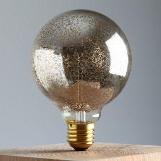 E27 Deko Glühlampe Globe Lampe silber 240/40W