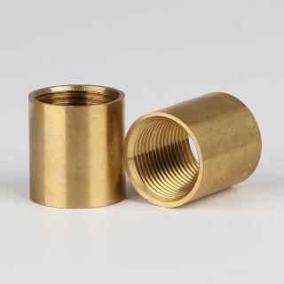 Verbindungs-Muffe Gewinde-Adapter Messing roh M13x1 Innengewinde auf M13x1 Innengewinde 15x16mm