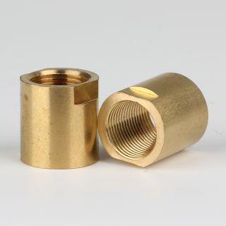 Verbindungs-Muffe Messing roh M13x1 Innengewinde 17x18mm SW12x4