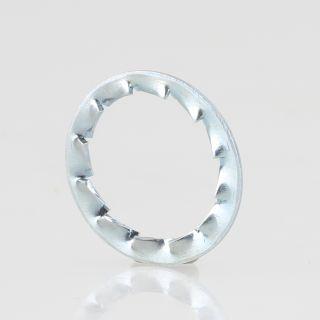 Fächerscheibe 15x10,5x0,5 mm verzinkt  (für M10 Gewinderohr)