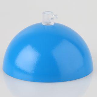 Lampen Baldachin 50x100mm Metall hellblau mit Zugentlaster Kunststoff transparent