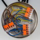 Lampen Metall Baldachin 100x25mm edelstahloptik für 5 Lampenpendel