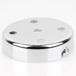 Lampen Metall Baldachin 100x25mm verchromt für 5 Lampenpendel