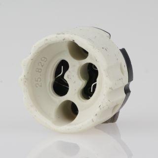 GU10 Hochvolt Lampen-Fassung 2A/250V mit Steckkontakt seitlich