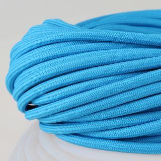 Textilkabel Stoffkabel blau 3-adrig 3x0,75 Zug-Pendelleitung S03RT-F 3G0,75