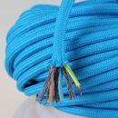 Textilkabel Stoffkabel blau 3-adrig 3x0,75...