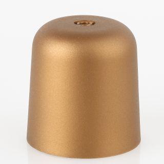 Lampen Baldachin 65x65mm Kunststoff gold Zylinderform