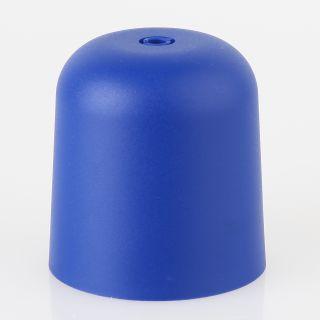 Lampen Baldachin 65x65mm Kunststoff blau Zylinderform