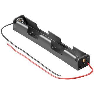 Batteriehalter für 2x Mignonzelle (AA) mit Anschlusskabel