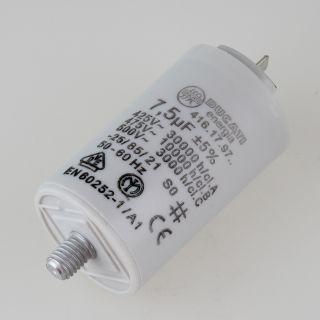 7,5uF 450V Anlaufkondensator Motorkondensator mit 6,3 mm Flachstecker