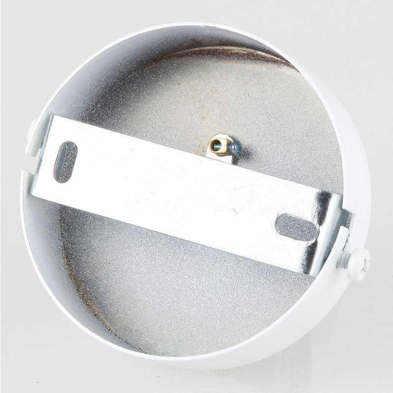 lampen metall baldachin 80x25mm weiss f r 1 lampenpendel. Black Bedroom Furniture Sets. Home Design Ideas