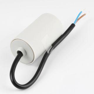 8uF 450V Anlaufkondensator Motorkondensator mit Kabel spritzwassergeschützt