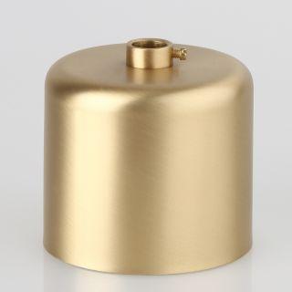 Lampen Baldachin 62x63mm Metall Messing matt Zylinderform mit Stellring fuer 10mm Pendelrohr