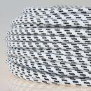 Textilkabel Stoffkabel schwarz-weiß 3-adrig 3x0,75...