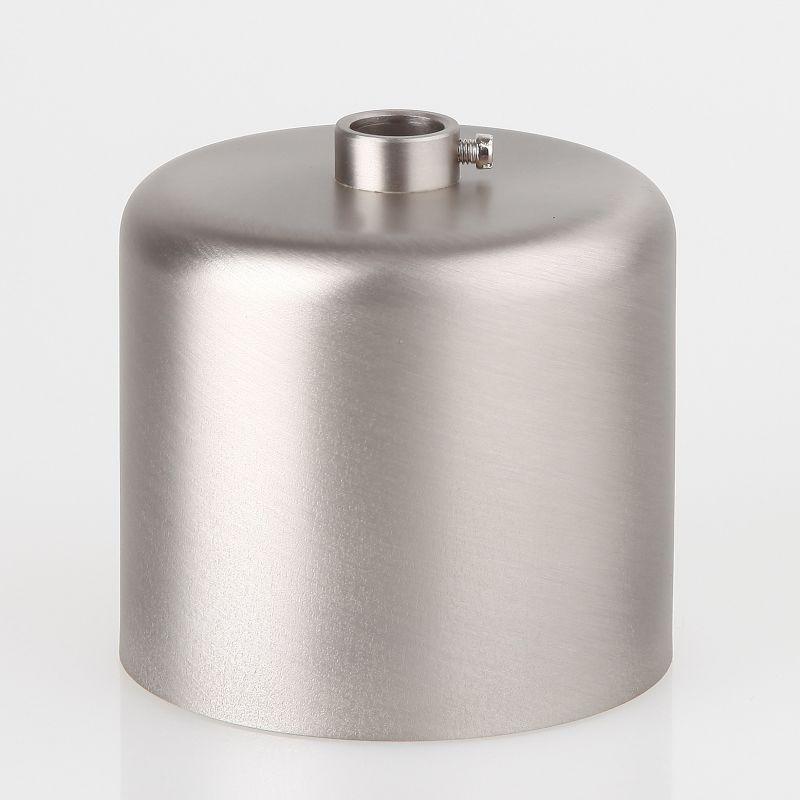 lampen baldachin 62x63mm metall edelstahloptik zylinderform mit stellring fuer 10mm pendelrohr