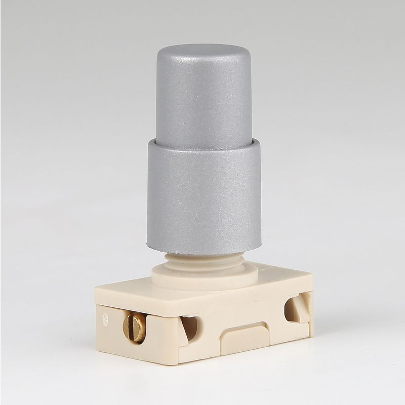lampen einbau druck schalter silber mit spezialknopf 6 95. Black Bedroom Furniture Sets. Home Design Ideas