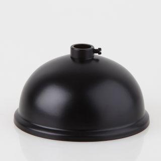 Lampen Baldachin 80x39mm Metall schwarz Kugelform mit 10mm Stellring