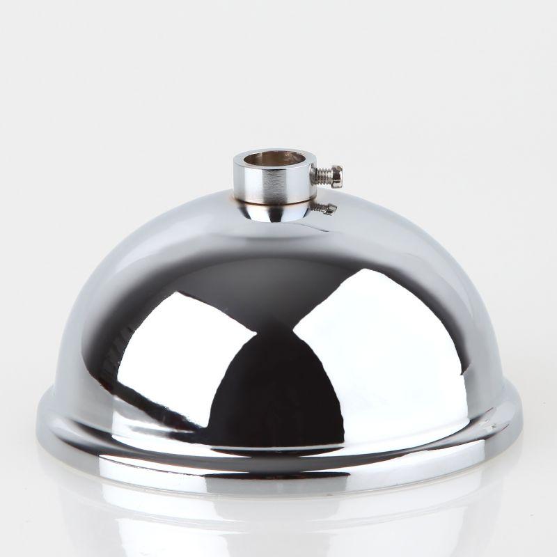 Glas Abdeckung 105-150mm in Chrom und Messing mit Stellring für 10mm Rohre