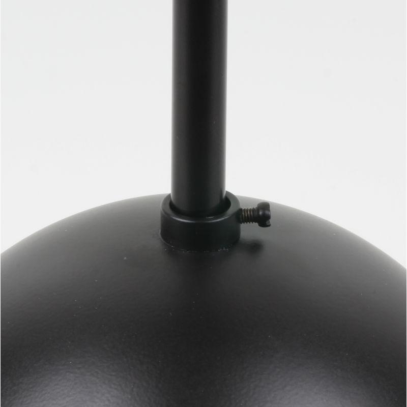 Leuchten Lampen Baldachin schwarz lackiert Zylinderform mit Leuchtenaufhängung